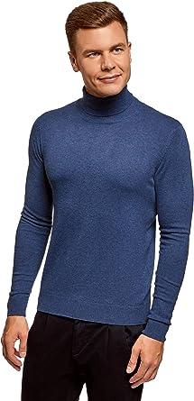 oodji Ultra Hombre Jersey Básico de Algodón: Amazon.es: Ropa y ...