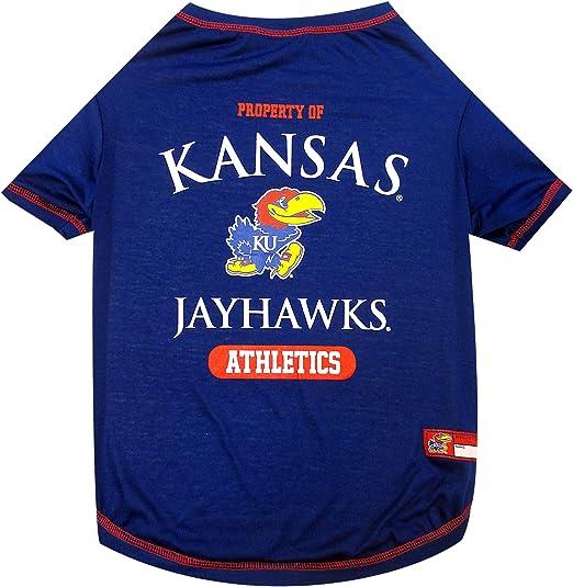 NCAA Kansas Jayhawks Mesh Dog Football Pet Jersey