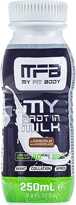 MYFITBODY Batido Proteína Líquido, sabor chocolate - Botella ...