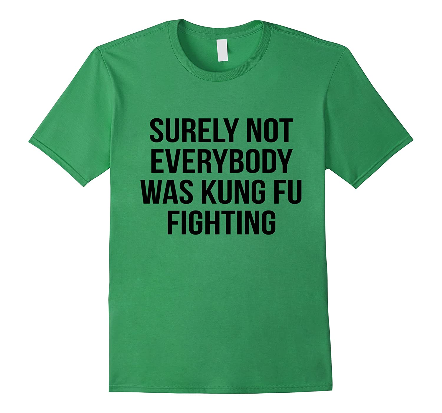 ac467d19 Surely Not Everybody Was Kung Fu Fighting T-Shirt Funny Tee-RT ...