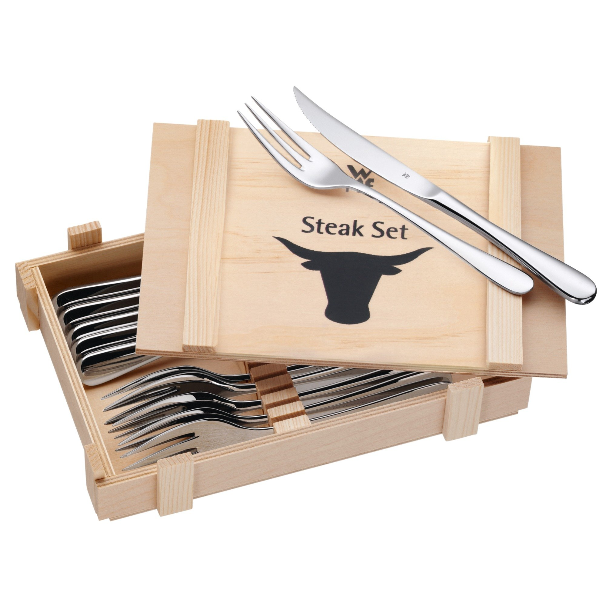 WMF Steak Cutlery 12 pieces (6 personas)