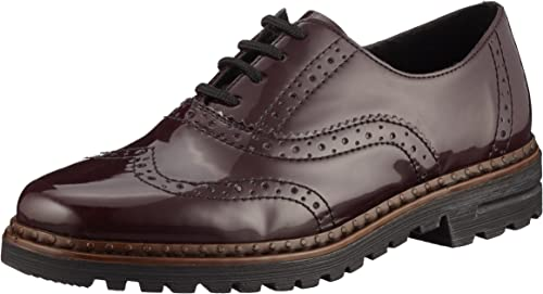 Rieker Damen 54812 Brogue, Rot (bordeaux), 40 EU: zz6Fl