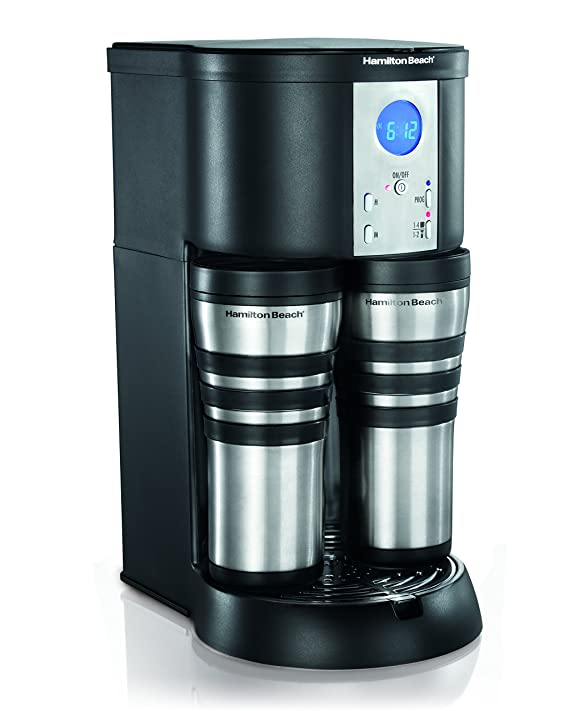 Amazon Hamilton Beach Coffee Maker Stay Or Go Digital With Thermal Insulated Carafe 45237R Kitchen Dining