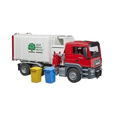bruder Toys 03761 Man TGS Side Loading Garbage Truck: Toys & Games