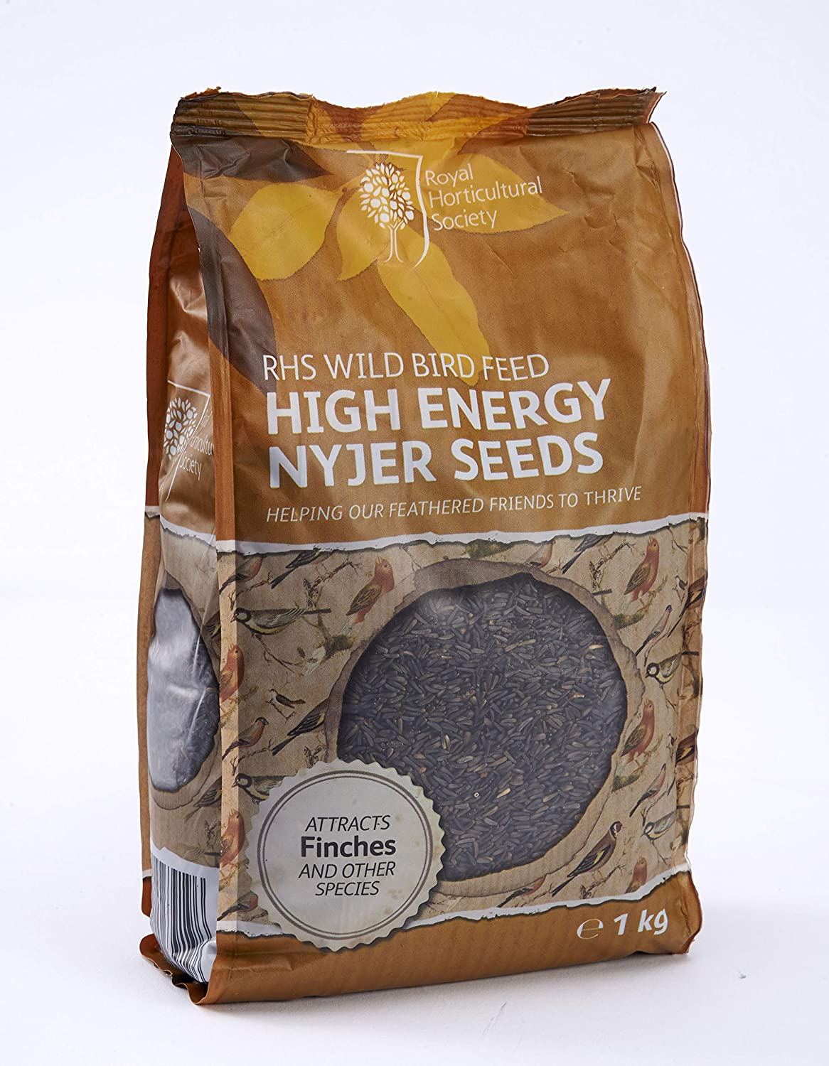 RHS Wild Bird Feed, High Energy Nyjer Seeds - 1KG, Agros Trading