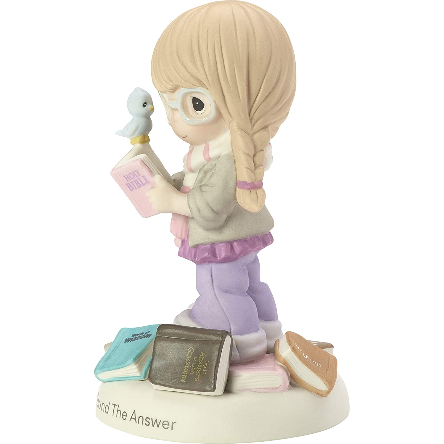 Precious Moments I Found The Answer Girl With Bible Bisque Porcelain Figurine 182006