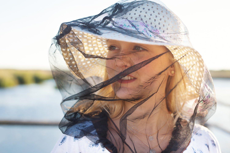 ulofpc 2 St/ück Moskito-Kopfnetz Moskito-Gesichtsnetz Lichtschutzabdeckung Insektennetz f/ür Campingangeln
