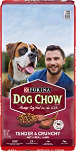 Purina Dog Chow Dry Dog Food, Tender & Crunchy With Real Lamb - 40 lb. Bag