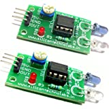 Silicon TechnoLabs 2pcs IR Proximity Sensor for line follower and Obstacle sensing Robots.Interface with ARDUINO,AVR,8051,PIC,ARM,MSP430 (Green)