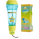 Echo Mic for Kids and Toddlers - Magic Microphone with Multicolored Flashing Light and Fun Rattle - Blue and Yellow Speech Th