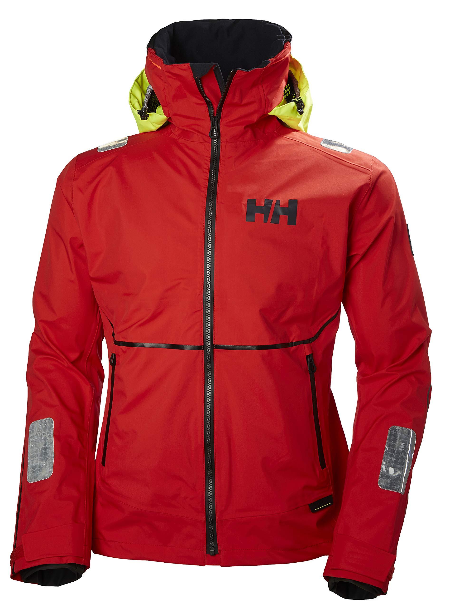 Helly Hansen Men's Hp Foil Waterproof Breathable Hooded Sailing Jacket, Alert Red, Small