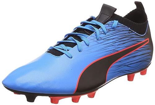 df6bc0c8912 Puma Men s Evoknit FTB II FG Bleu Azur-Red Blast-Black Football Boots-