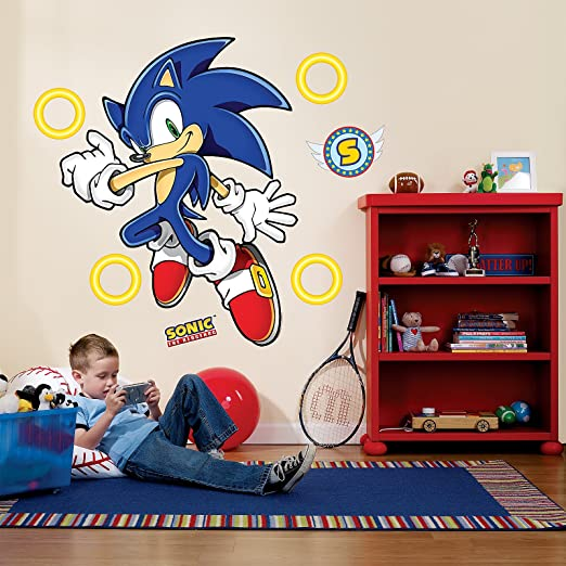 Sonic the hedgehog room decor giant wall decals