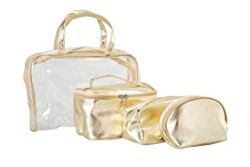 Travel Cosmetic Bag - 4 in 1-Set Makeup and Toiletries Bag for Travelers e094d649877da