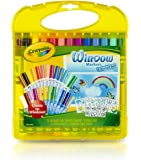 Crayola Window Marker and Stencil Set, 25 Mini Window Markers