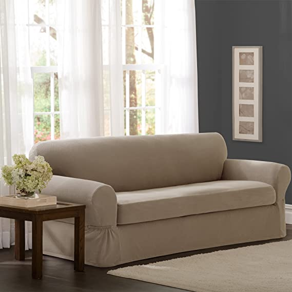 Amazon.com: Funda de sofá de 2 piezas con pixel ...