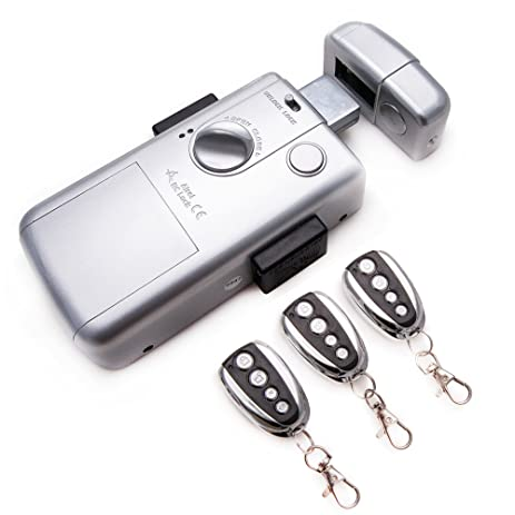 Intelligent Electronic lock, maximum security and invisible, with 3 controls. Silver color.