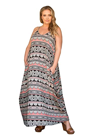 19dde22998 Sealed with a Kiss Designs Plus Size SWAK Designs Womens Plus Size  Sleeveless Maxi Layla Maxi
