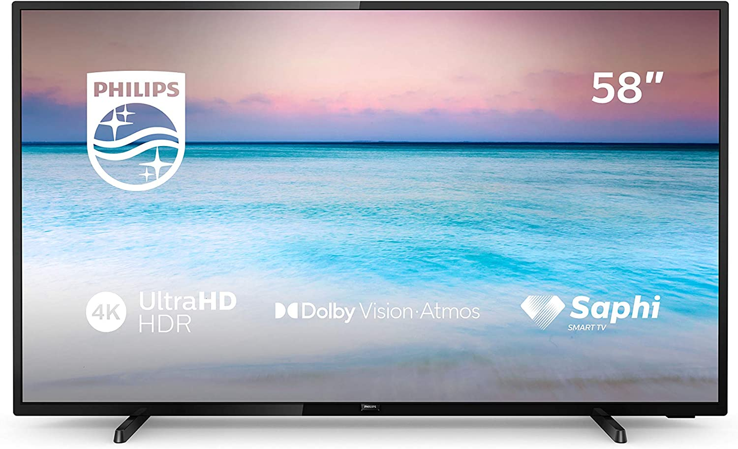 Philips 58PUS6504/12 - Smart TV LED 4K UHD, 58 pulgadas, Resolución de pantalla 3840 x 2160, Negro brillante: Amazon.es: Electrónica