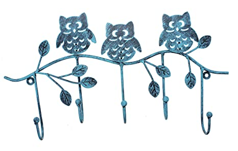 Amazon.com: Owlgift - Perchero de metal con 5 ganchos para ...
