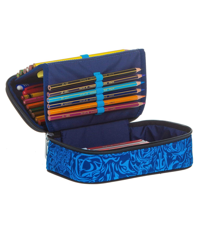ASTUCCIO Scuola CROWDY QUICK CASE SEVEN THE DOUBLE Blu Fantasia