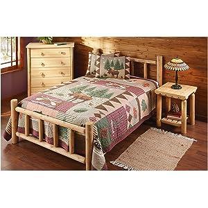 castlecreek cedar log bed full