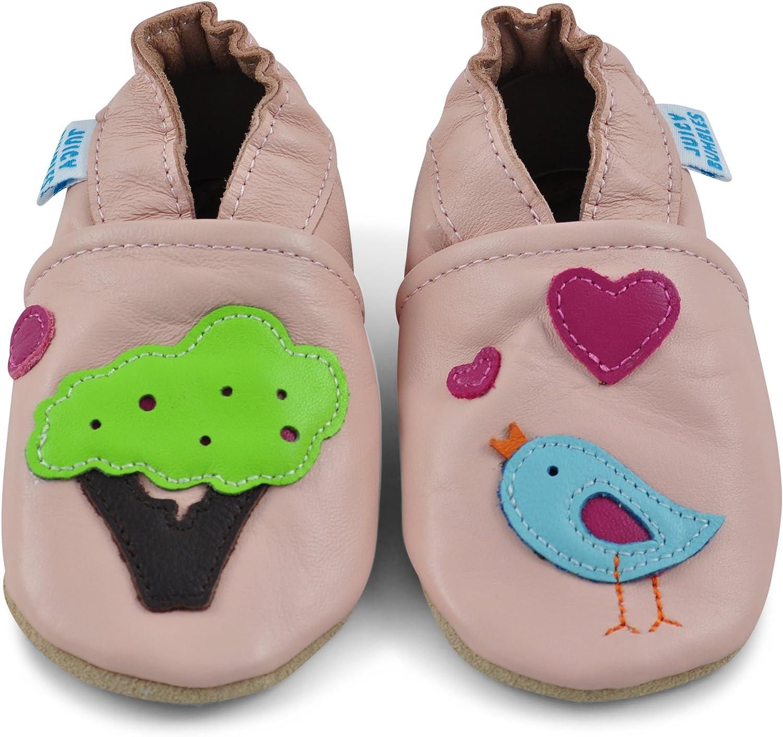 Junge M/ädchen Kleinkind 0-6 Monate 6-12 Monate 12-18 Monate 18-24 Monate 2-3Y Weicher Leder Lauflernschuhe Krabbelschuhe Babyhausschuhe mit Wildledersohlen