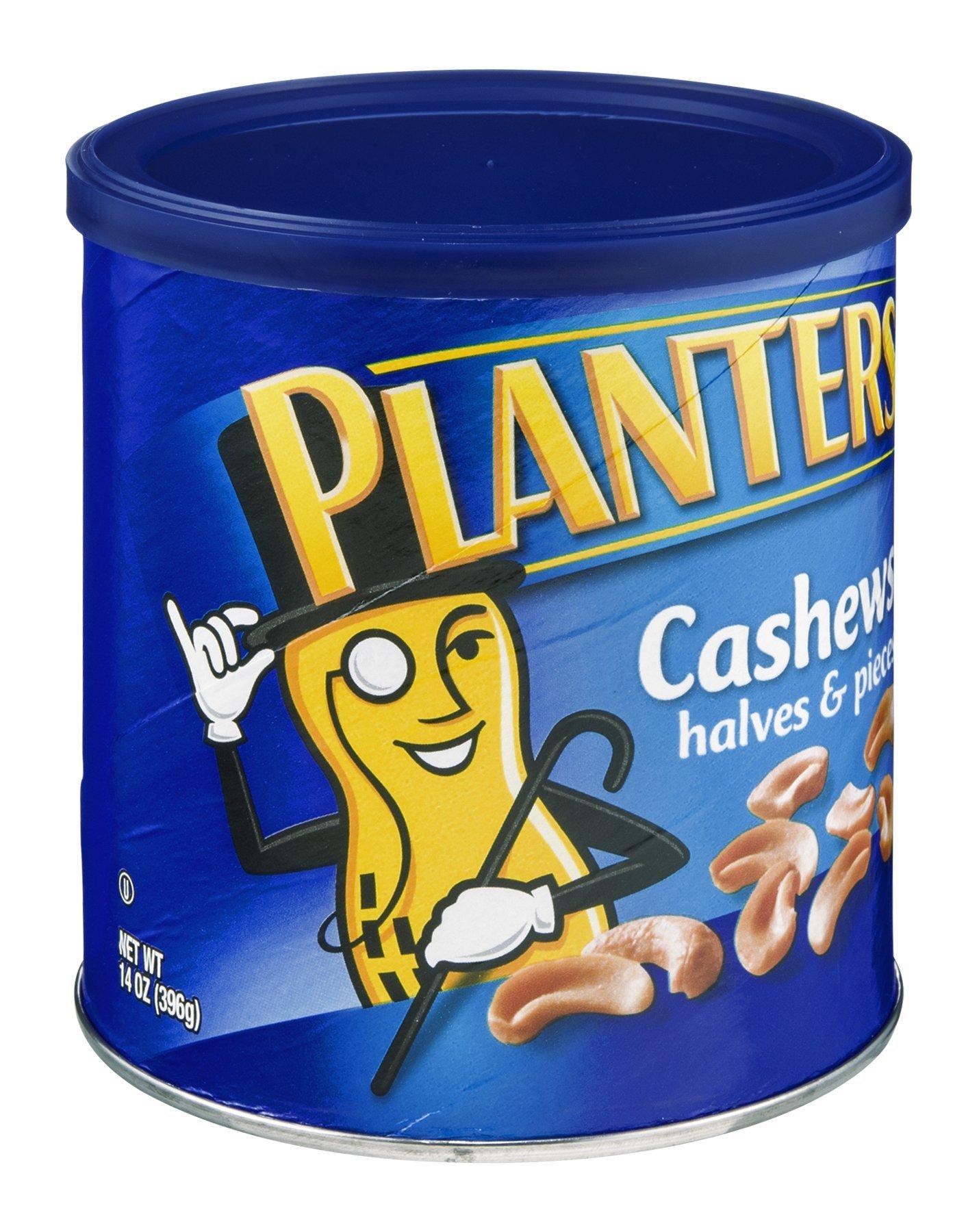 Planters Halves and Pieces Cashew, 14 Ounce -- 12 per case.