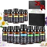 Startpaket för eteriska oljor Aiemok aromaterapioljor presentset 12 x 10 ml för spridare 100 rena eteriska oljor kit…