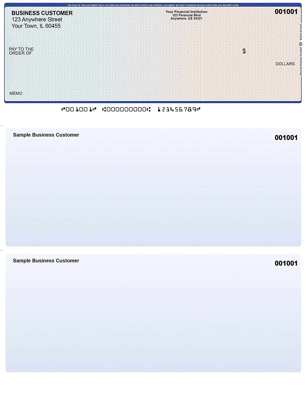 250 Checks Blue-Red Top Style Computer Checks