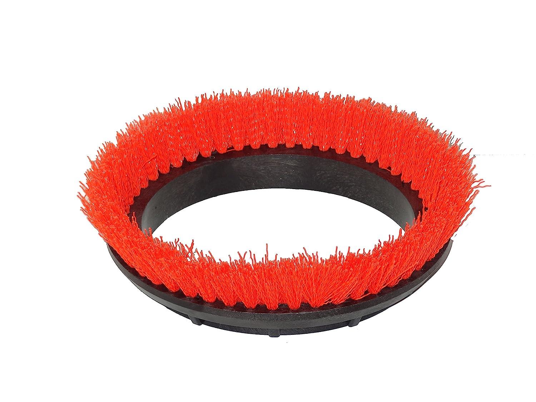 "BISSELL BigGreen Commercial 237.047BG Scrub Brush, 0.028"" Bristle Diameter Crimped Polypropylene for BGEM9000 Easy Motion Floor Machine, 12"", Orange"