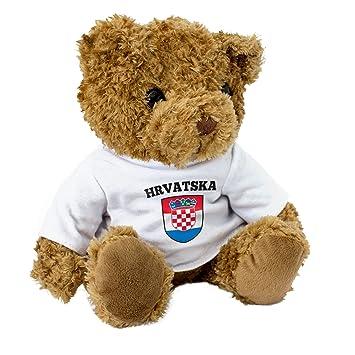 Weihnachten In Kroatien.Neu Kroatien Flagge Braun Teddybär Niedlich Weich Kuschelig