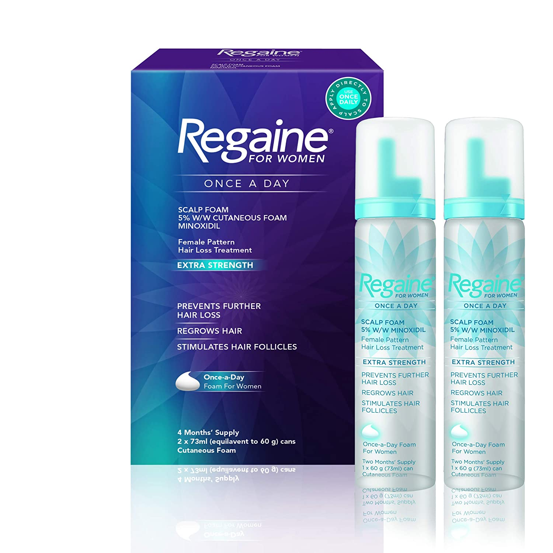 Regaine Hair Regrowth Foam for Women, 73 ml, Pack of 2, 4 months supply Johnson & Johnson 92024