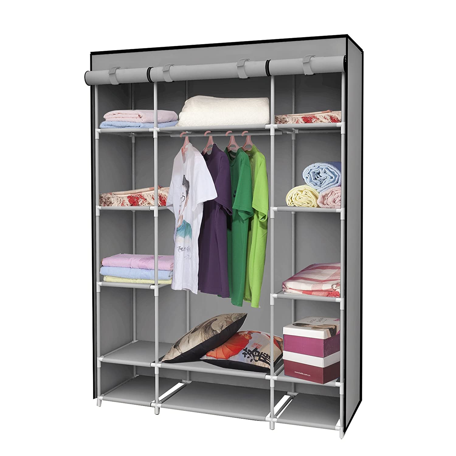 almirah new blue index ft cupboard portable storage foldable wardrobe closet