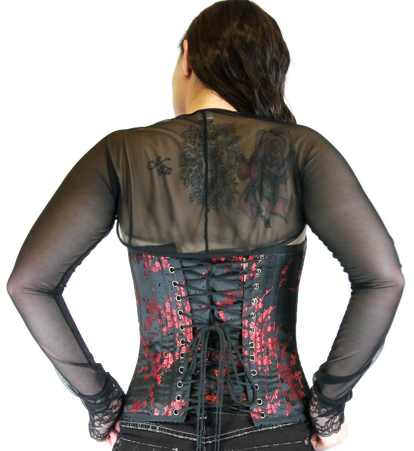 Nyteez Womens Black Fine Sheer Mesh Shrug Bolero (XXlarge) by Nyteez (Image #2)