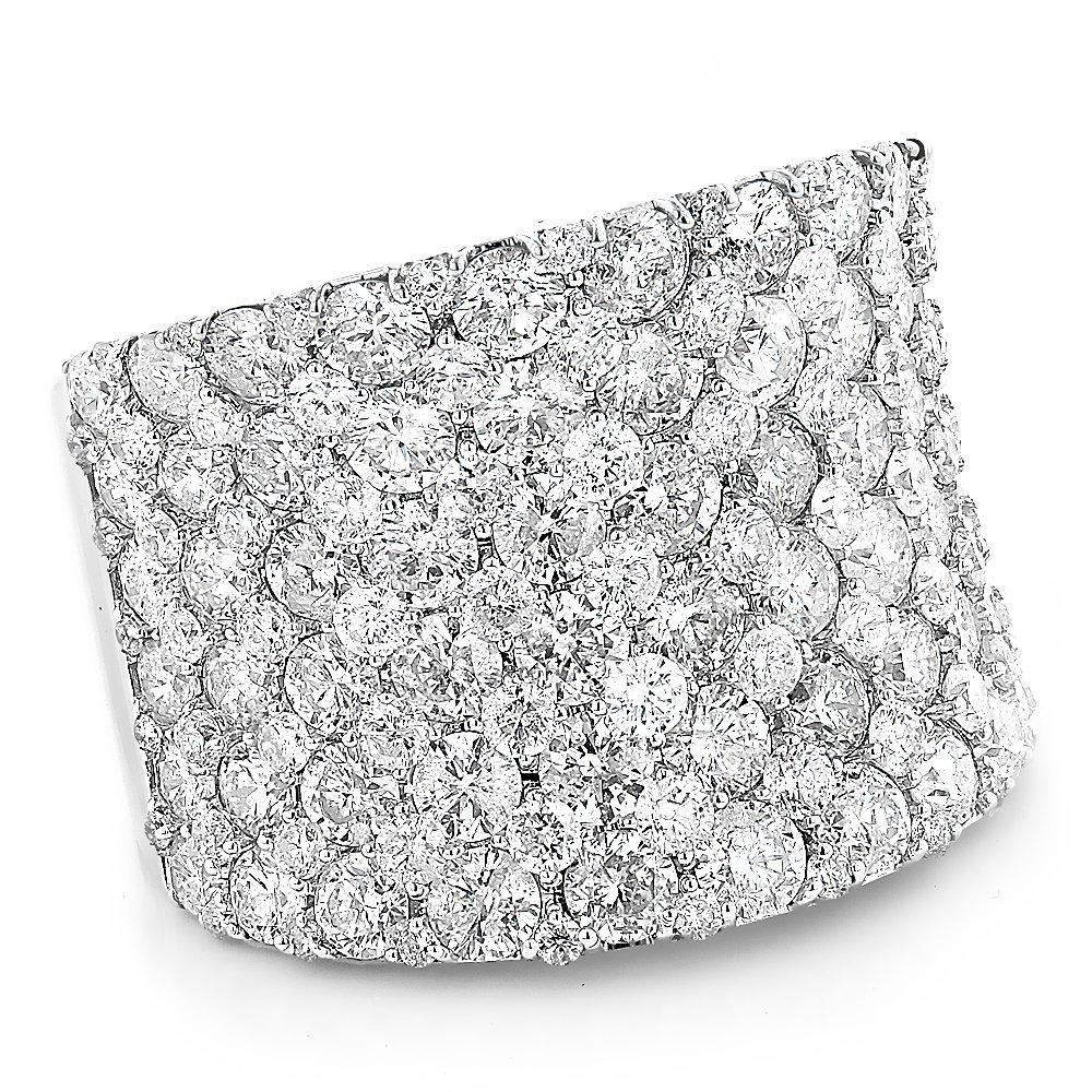 14K Gold Unique Diamond Wedding Bands Ladies Pave Diamonds Ring 8ctw G-H color (White Gold, Size 7.5)