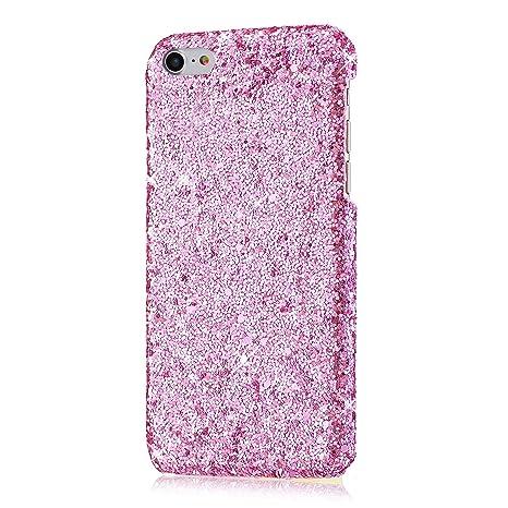 73d00e5d429 YSIMEE Custodia iPhone 6/iPhone 6S,Xmas Decorazioni Natalizie Custodie Gel  Trasparente Brillantini Glitters