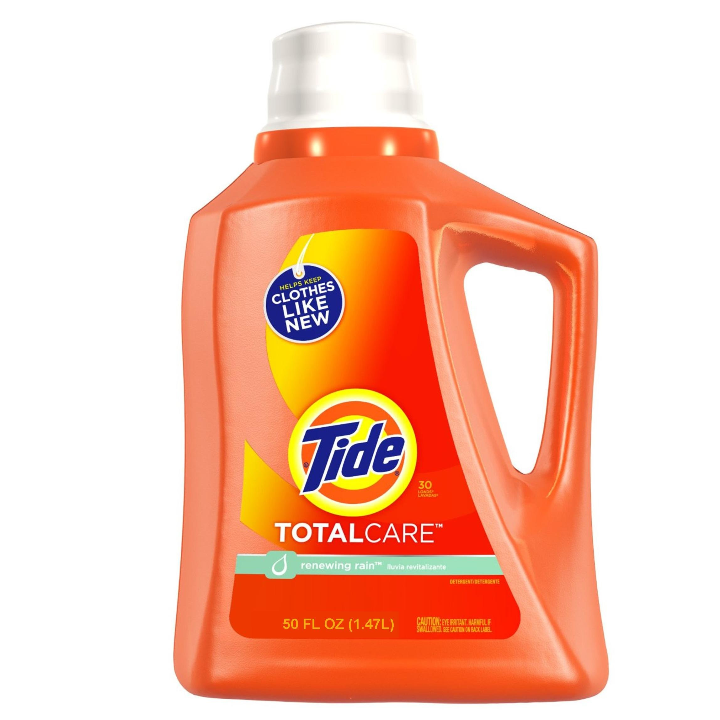 Tide Total Care Liquid Renewing Rain Scent, 50 ounce (Pack of 3)