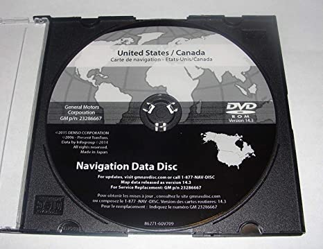 Amazon Com 2016 Gm Cadillac Buick Chevrolet Gmc Navigation Dvd Map