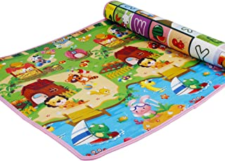 SimpVale Double-Sided Mats Foam Waterproof Baby Crawling Thickening Mat Drawing Alphabet Figures Animals Pattern 180cm x 120cm x1cm (70.86inch x 47.24inch)