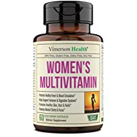Women's Daily Multivitamin Supplement. Vitamins and Minerals. Chromium, Magnesium, Biotin, Zinc, Calcium, Green Tea. Antioxidant Properties for Women. Heart, Breast Health. 60 Capsules