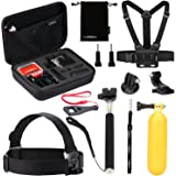 Luxebell Value Pack Accessories Kit for Gopro Hero 5 4 3+ 3 2 1, Action camera Sjcam AKASO WiMiUS Campark Lightdow DBPower VicTsing Aokon (10-in-1)