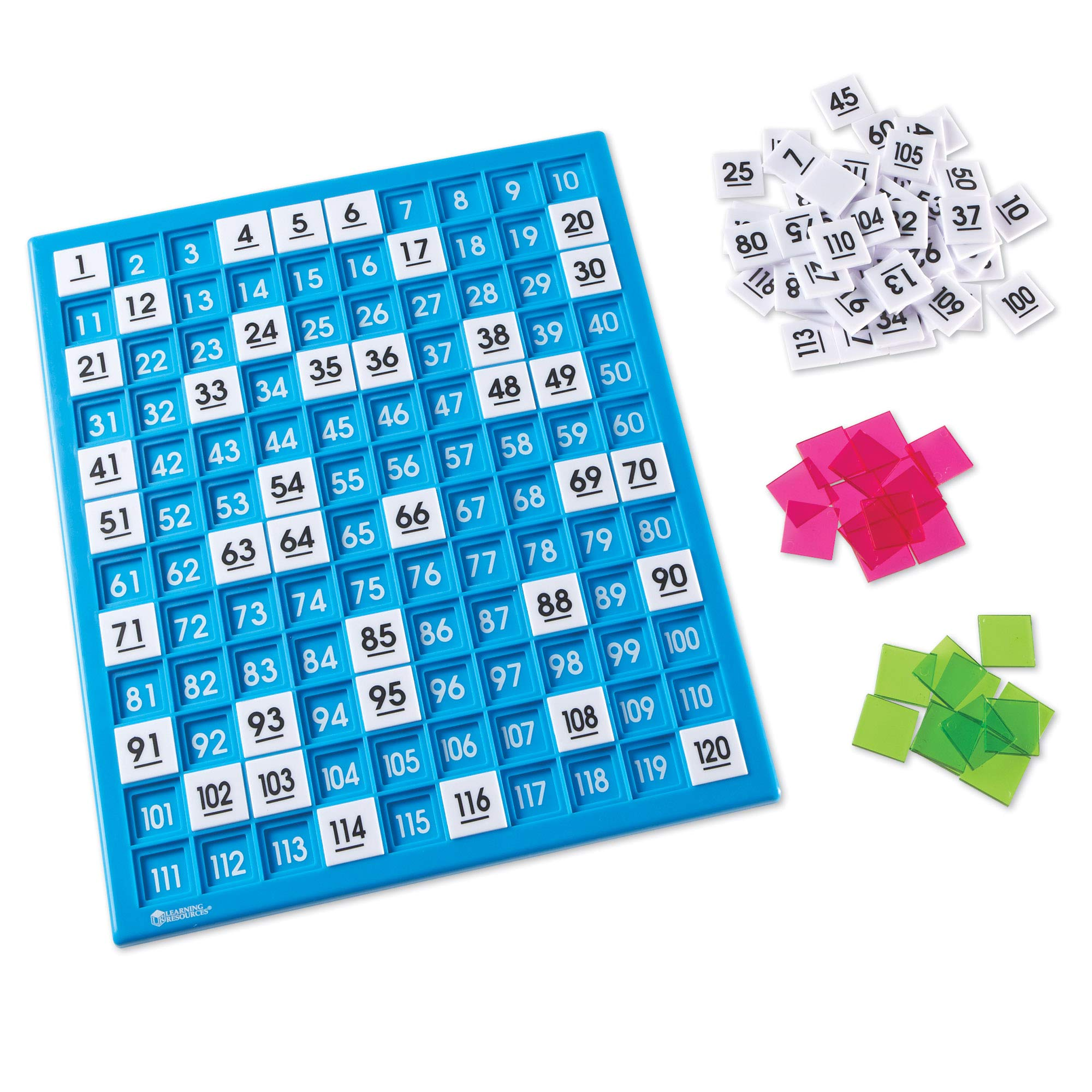 Learning Resources 120 Number Board, Tray & Numbered Tiles, Common Core Math, 181 Piece, Ages 6+ by Learning Resources