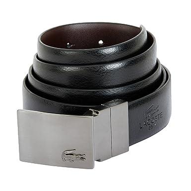 47a1858925da LACOSTE Reversible Curved Belt W110 Black  Amazon.co.uk  Clothing