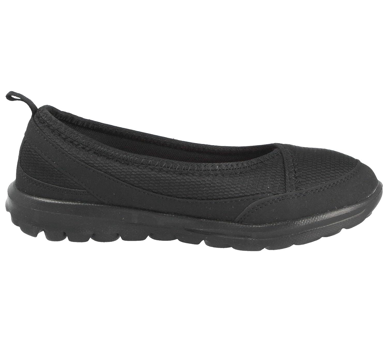 Ladies New Black Slip On Comfy Memory Foam Pumps Trainers Shoes UK Sizes 3-8