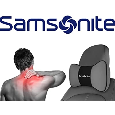 Samsonite SA5249 \ Travel Pillow for Car, SUV \ Helps Relieve Neck Pain & Improve Circulation \100% Pure Memory Foam \ Fits Most Vehicles: Automotive