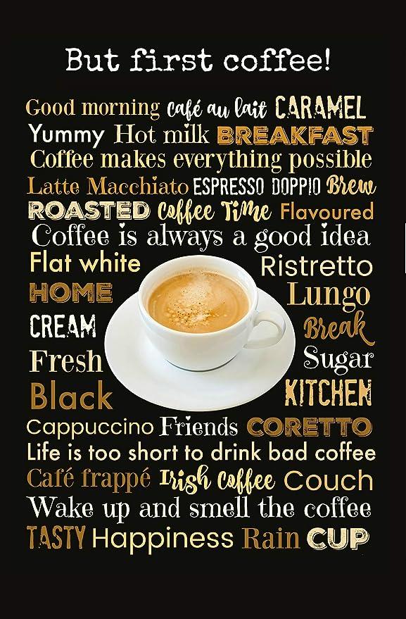 Compra Schatzmix But First Coffee! Cartel de Chapa de café ...