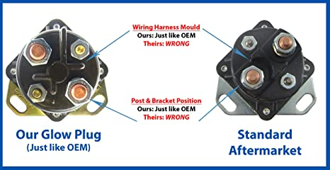 oem style ford diesel glow plug relay solenoid for 6 9 & 7 3 liter diesel  ihc t444e powerstroke engines: amazon co uk: car & motorbike