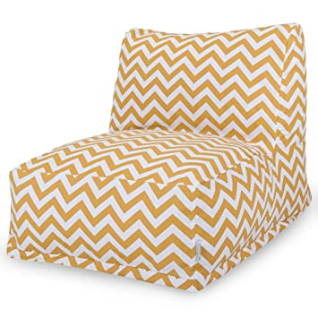 Fine Majestic Home Goods Yellow Zig Zag Bean Bag Chair Lounger Machost Co Dining Chair Design Ideas Machostcouk