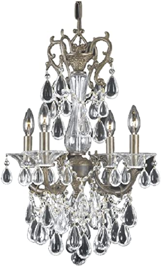 Triarch 32318 renaissance collection 4 light mini chandelier triarch 32318 renaissance collection 4 light mini chandelier english bronze finish with crystal aloadofball Image collections